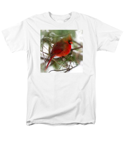 Men's T-Shirt  (Regular Fit) featuring the photograph Christmas Cardinal by Kerri Farley