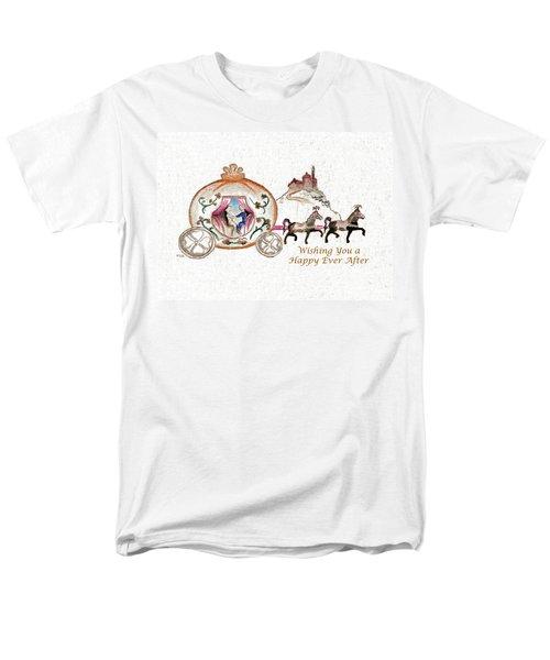 Cinderella Wedding Message Men's T-Shirt  (Regular Fit) by MEA Fine Art