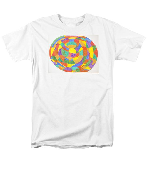 Men's T-Shirt  (Regular Fit) featuring the painting Life Cycles by Stormm Bradshaw