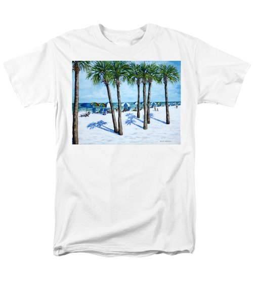 Men's T-Shirt  (Regular Fit) featuring the painting Clearwater Beach Morning by Penny Birch-Williams