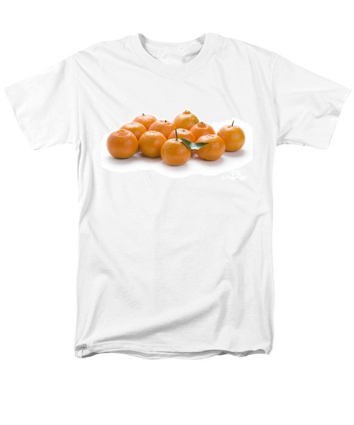 Men's T-Shirt  (Regular Fit) featuring the photograph Clementine Oranges On White by Lee Avison