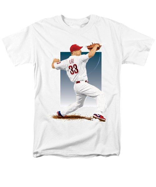 Men's T-Shirt  (Regular Fit) featuring the digital art Cliff Lee by Scott Weigner