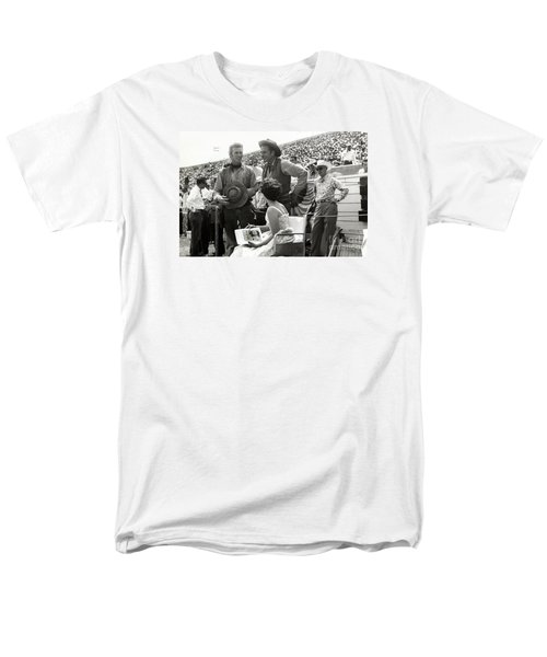 Clint Eastwood  Eric Fleming Characters Rowdy Yates Salinas California 1962 Men's T-Shirt  (Regular Fit) by California Views Mr Pat Hathaway Archives