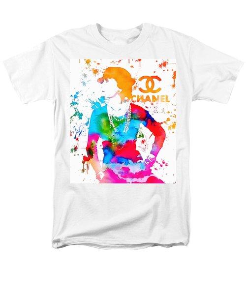 Coco Chanel Paint Splatter Men's T-Shirt  (Regular Fit) by Dan Sproul