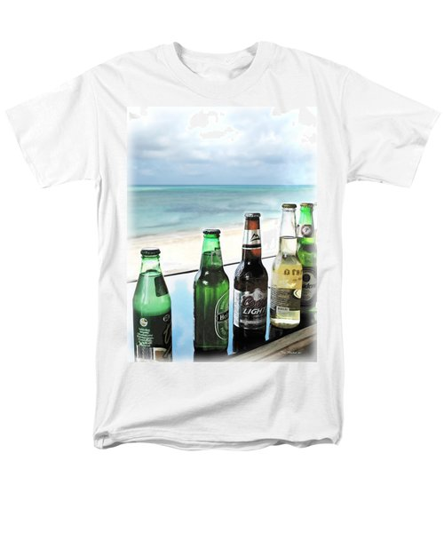 Cold Beers In Paradise Men's T-Shirt  (Regular Fit) by Joan  Minchak
