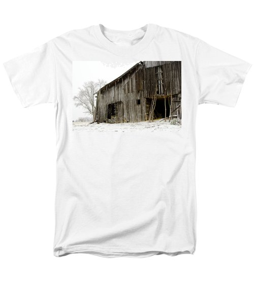 Cold Winter At The Barn  Men's T-Shirt  (Regular Fit) by Wilma  Birdwell