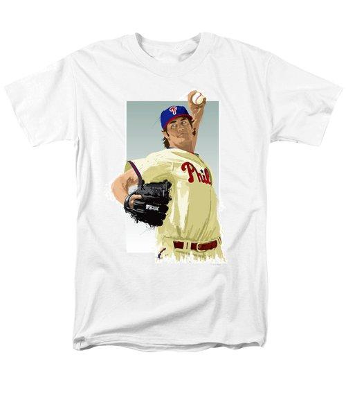 Men's T-Shirt  (Regular Fit) featuring the digital art Cole Hamels by Scott Weigner