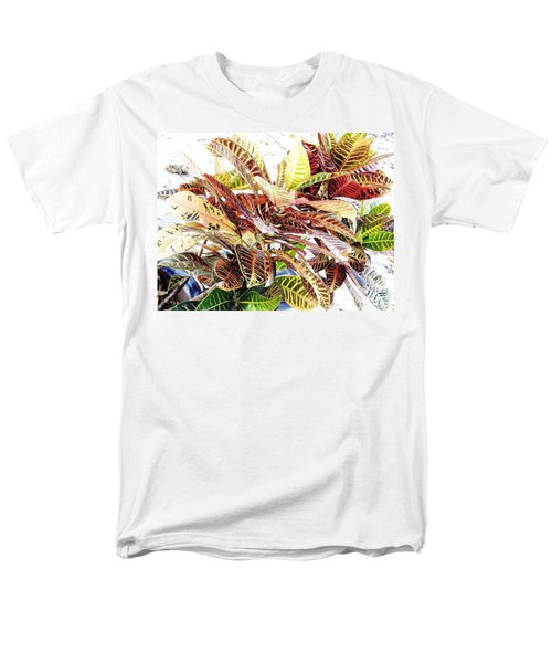 Colorful - Croton - Plant Men's T-Shirt  (Regular Fit) by D Hackett