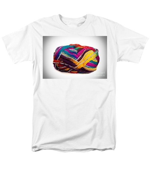Colorful Yarn Men's T-Shirt  (Regular Fit) by Les Palenik