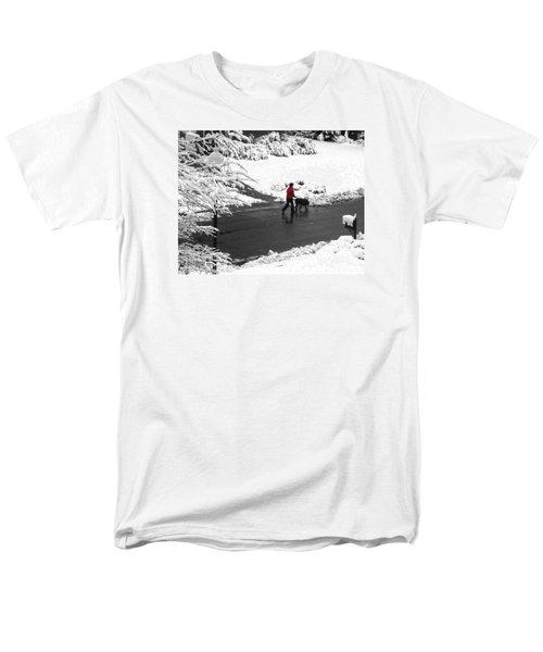 Companions Walking On Christmas Morning Men's T-Shirt  (Regular Fit) by Sandi OReilly