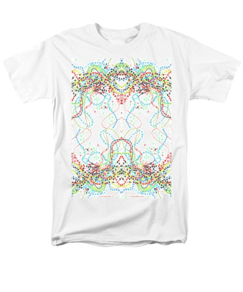 Men's T-Shirt  (Regular Fit) featuring the drawing Confetti Rorschach by Carol Jacobs