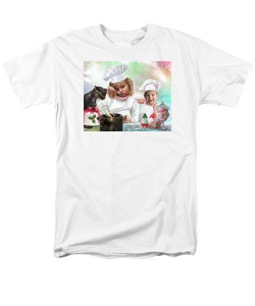 Cookin Up A Little Christmas Magic Men's T-Shirt  (Regular Fit) by Colleen Taylor