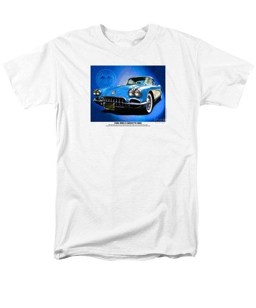 Men's T-Shirt  (Regular Fit) featuring the photograph Cool Corvette by Kenneth De Tore