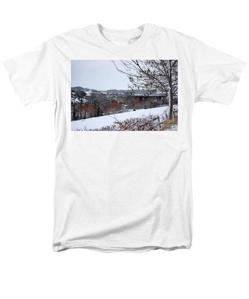 Copper Tones Men's T-Shirt  (Regular Fit) by Linda Prewer