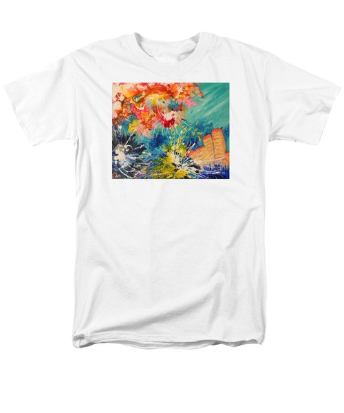 Men's T-Shirt  (Regular Fit) featuring the painting Coral Madness by Lyn Olsen