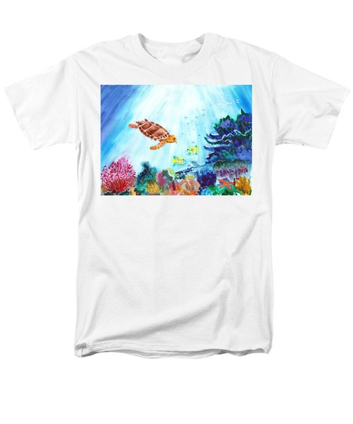 Men's T-Shirt  (Regular Fit) featuring the painting Coral Reef by Donna Walsh