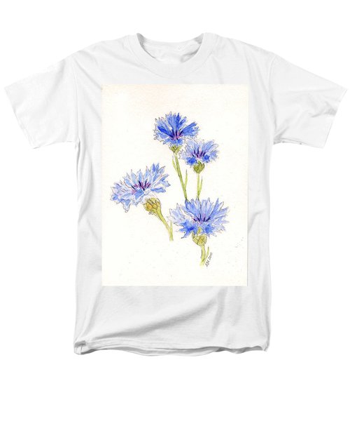 Men's T-Shirt  (Regular Fit) featuring the painting Cornflowers by Stephanie Grant