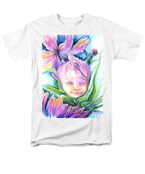 Cosmos Bud Men's T-Shirt  (Regular Fit) by Ashley Kujan