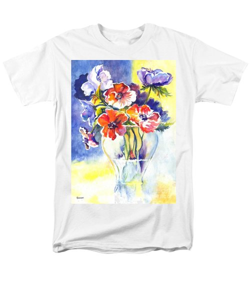 Men's T-Shirt  (Regular Fit) featuring the painting Cosmos I by Carol Wisniewski