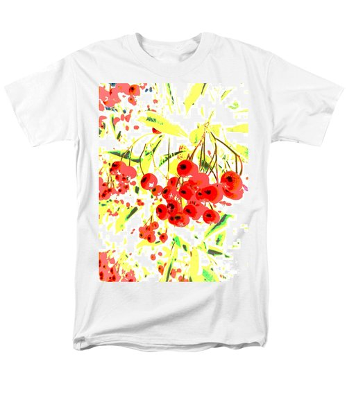 Men's T-Shirt  (Regular Fit) featuring the photograph Cotoneaster by Barbara Moignard