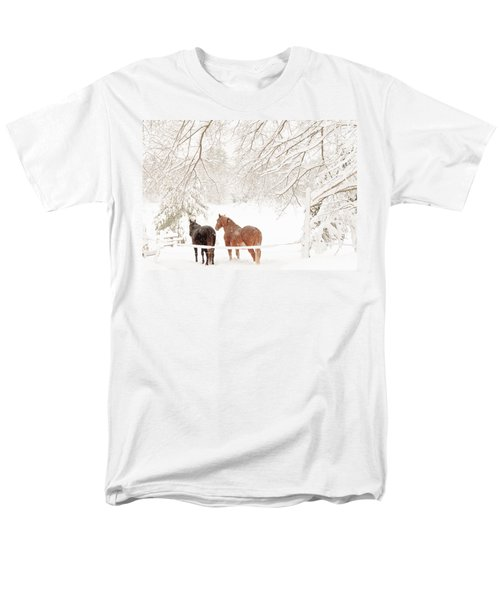 Country Snow Men's T-Shirt  (Regular Fit) by Cheryl Baxter