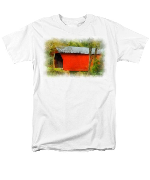 Covered Bridge - Sinking Creek Men's T-Shirt  (Regular Fit)