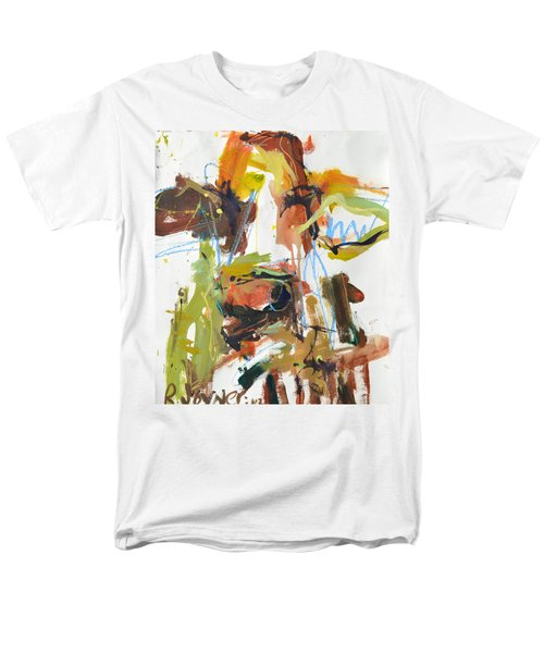 Cow With Green And Brown Men's T-Shirt  (Regular Fit) by Robert Joyner