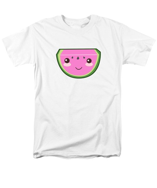 Cute Watermelon Illustration Men's T-Shirt  (Regular Fit) by Pati Photography