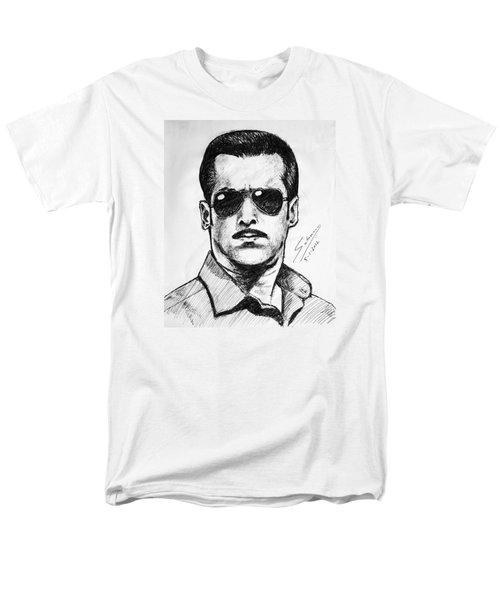 Men's T-Shirt  (Regular Fit) featuring the painting Salman Khan by Salman Ravish