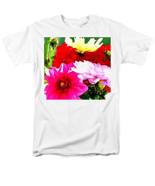 Men's T-Shirt  (Regular Fit) featuring the photograph Dahlias  by Lehua Pekelo-Stearns