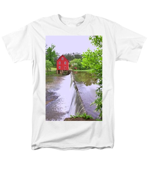Dam At Starrs Mill Men's T-Shirt  (Regular Fit) by Gordon Elwell