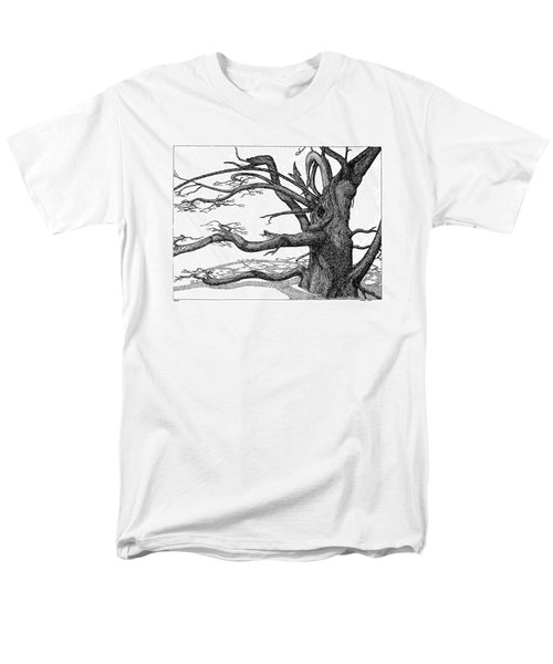 Men's T-Shirt  (Regular Fit) featuring the drawing Dead Tree by Daniel Reed