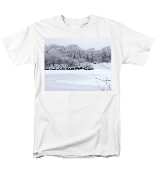 December Lake Men's T-Shirt  (Regular Fit) by Debbie Hart