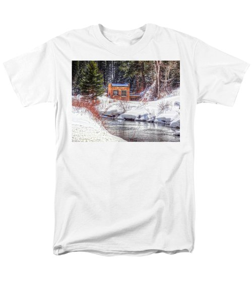 Men's T-Shirt  (Regular Fit) featuring the photograph Deep Snow In Spearfish Canyon by Lanita Williams
