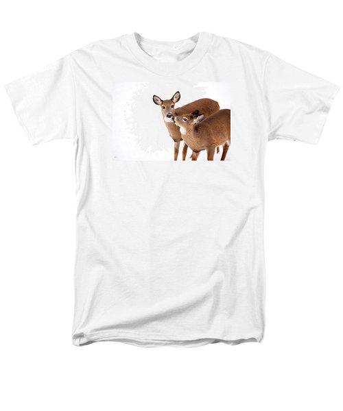 Deer Kisses Men's T-Shirt  (Regular Fit) by Karol Livote