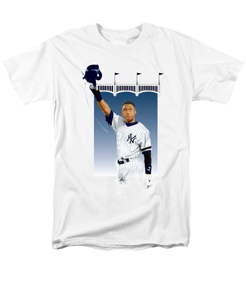 Derek Jeter 3000 Hits Men's T-Shirt  (Regular Fit) by Scott Weigner
