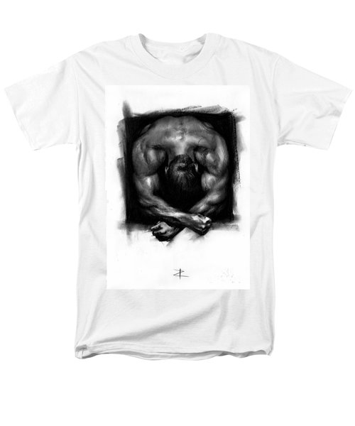 Men's T-Shirt  (Regular Fit) featuring the drawing Despondent by Paul Davenport