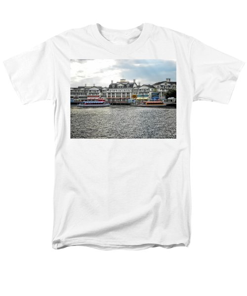 Docking At The Boardwalk Walt Disney World Men's T-Shirt  (Regular Fit) by Thomas Woolworth