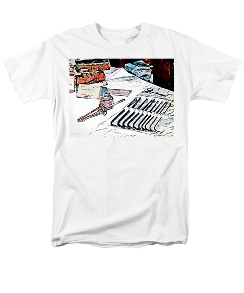 Men's T-Shirt  (Regular Fit) featuring the photograph Doctor - Medical Instruments by Susan Savad
