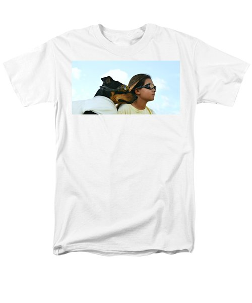 Dog Is My Co-pilot Men's T-Shirt  (Regular Fit) by Laura Fasulo