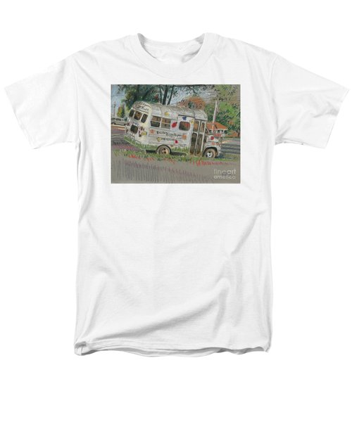Men's T-Shirt  (Regular Fit) featuring the painting Doodlebugs Bus by Donald Maier