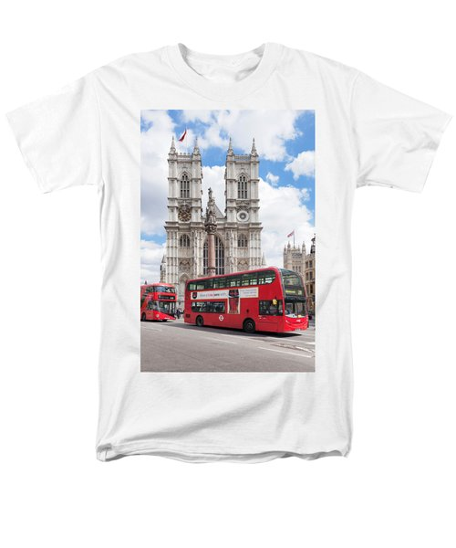 Double-decker Buses Passing Men's T-Shirt  (Regular Fit) by Panoramic Images