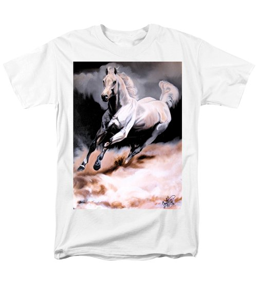 Dream Horse Series 20 - White Lighting Men's T-Shirt  (Regular Fit) by Cheryl Poland