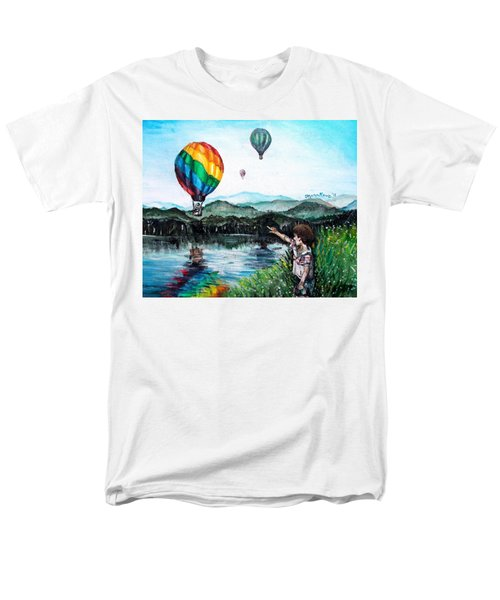 Men's T-Shirt  (Regular Fit) featuring the painting Dreams Do Come True by Shana Rowe Jackson