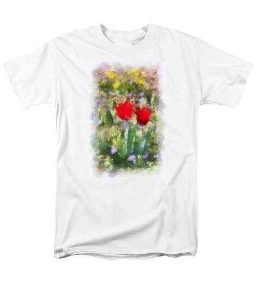 Men's T-Shirt  (Regular Fit) featuring the painting Dressed In Red  by Kerri Farley