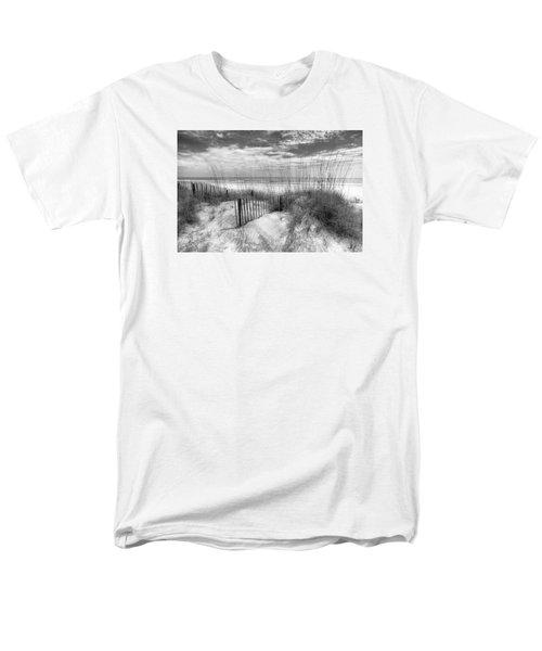 Dune Fences Men's T-Shirt  (Regular Fit) by Debra and Dave Vanderlaan