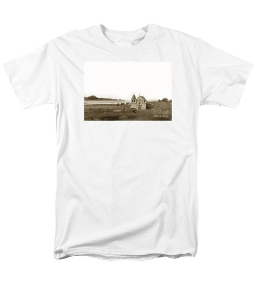 Early Carmel Mission And Point Lobos California Circa 1884 Men's T-Shirt  (Regular Fit) by California Views Mr Pat Hathaway Archives