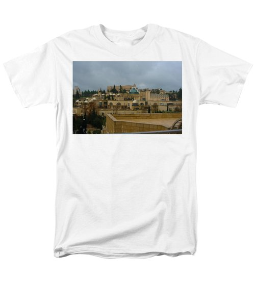 Men's T-Shirt  (Regular Fit) featuring the photograph Early Morning In Jerusalem by Doc Braham
