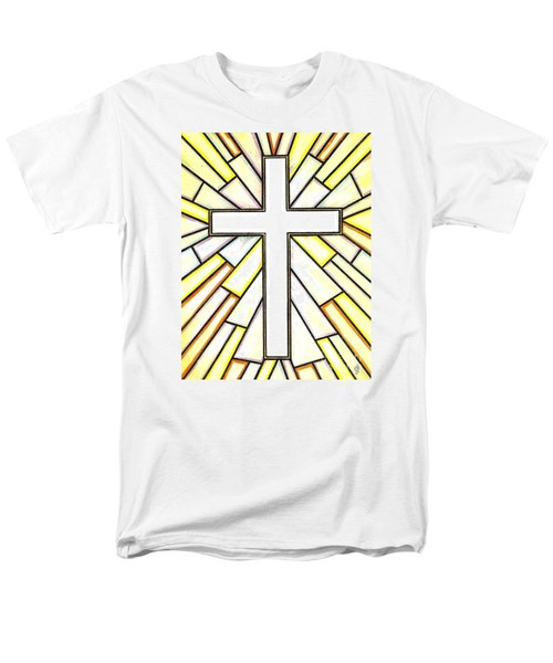 Men's T-Shirt  (Regular Fit) featuring the painting Easter Cross 3 by Jim Harris