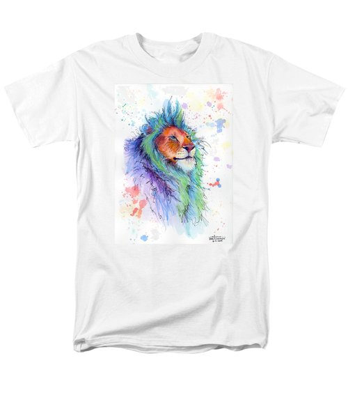 Easter Lion Men's T-Shirt  (Regular Fit) by Arleana Holtzmann